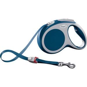Рулетка Flexi VARIO М лента 5м синяя для собак до 25кг