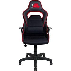 Кресло Алвест AV 140 PL (682 T) МК экокожа 223 черная/ TW сетка 455/457 черная/красная