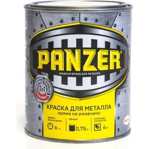 Краска по металлу PANZER ГЛАДКАЯ красная 0.75л. ral 3020