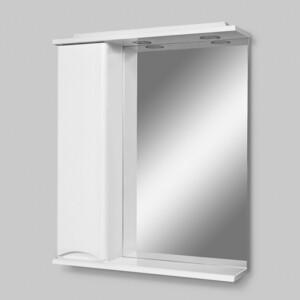Зеркало-шкаф Am.Pm Like 65 левый, с подсветкой, белый глянец (M80MPL0651WG)