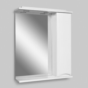 Зеркало-шкаф Am.Pm Like 65 правый, с подсветкой, белый глянец (M80MPR0651WG/M80MPR0651WG32)