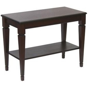 Стол журнальный Мебелик Васко В 84Н темно-коричневый/патина журнальный столик мебелик стол журнальный васко в 82с