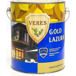 цена на Антисептик для дерева VERES GOLD LASURA№ 2 сосна 2.7л.