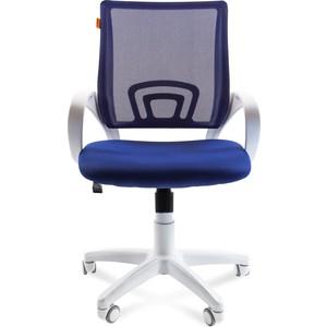 Офисное кресло Chairman 696 белый пластик TW-10/TW-05 синий