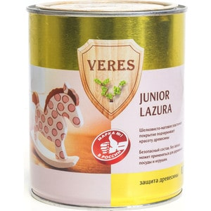 Антисептик для дерева VERES JUNIOR LAZURA №25 лимонный 0.75л. цена в Москве и Питере