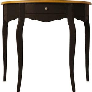 Стол туалетный Etagerca Leontina ST9324ETG/BLK овальный стол журнальный etagerca leontina st9317etg blk