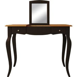 Стол туалетный с откидным зеркалом Etagerca Leontina ST9309ETG/BLK стол журнальный etagerca leontina st9317etg blk