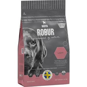 Сухой корм BOZITA ROBUR Light 19/08 для взрослых собак склонных к набору веса или с низким уровнем активности 2,5кг (14133)