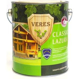 Антисептик для дерева VERES CLASSIC LAZURA № 4 орех 2.7л. антисептик для дерева veres junior lazura 19 дуб 2 5л