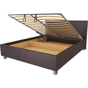 Кровать OrthoSleep Римини lite механизм и ящик Сонтекс Умбер 160х200 фото