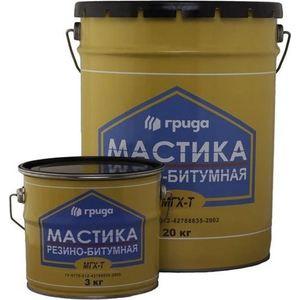 Мастика ГРИДА резино-битумная МГХ-Т 20л. (18кг.) дистиллятор чзбт магарыч 20л премиум т бк
