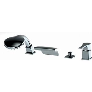 Смеситель для ванны GPD ATROS на 4 отверстия с душем (MAK66)