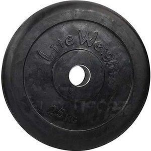 Диск обрезиненный Lite Weights RJ1050 черный (d-51mm 25кг с металлической втулкой)