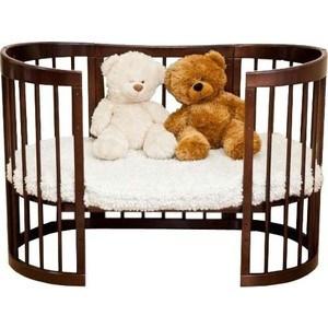 Кроватка трансформер Красная звезда 8 в 1 Паулина-2 С-422, шоколад С-422-09