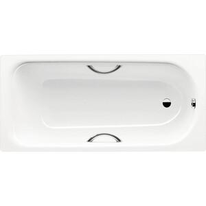Стальная ванна Kaldewei Saniform Plus Star 337 Easy-Clean 180x80 см, с ножками и ручками стальная ванна kaldewei puro 653 180x80 см с ножками