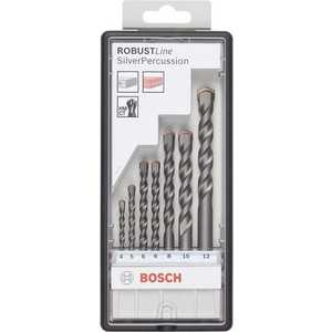 Набор сверл по бетону Bosch 4.0-12мм 7шт Silver Percussion (2.607.010.545) bosch robust line silver percussion 2607010524