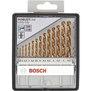 Набор сверл по металлу Bosch 1.5-6.5мм 13шт Robust Line (2.607.010.539)