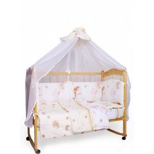 Комплект детского постельного белья AmaroBaby 7-ми предметный Мишкин сон, поплин, бежевый цена