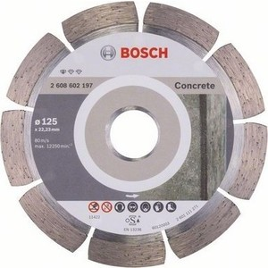 Алмазный диск Bosch 125х22.2мм Professional for Concrete (2.608.602.197)