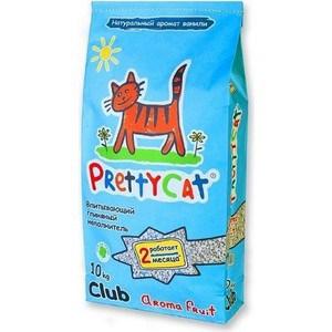Наполнитель PrettyCat Aroma Fruit впитывающий с део-кристаллами ароматом ванили для кошек 10кг Club
