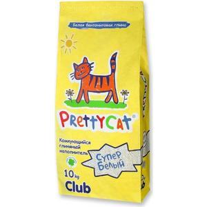 Наполнитель PrettyCat Супер белый комкующийся для кошек 10кг Club