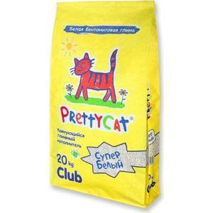 Наполнитель PrettyCat Супер белый комкующийся для кошек 20кг Club