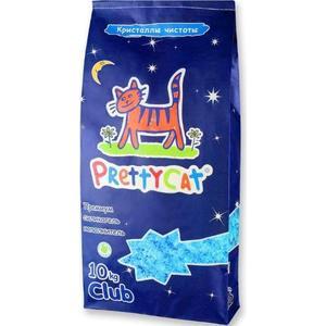 Наполнитель PrettyCat Кристаллы чистоты впитывающий премиум силикагель для кошек 10кг
