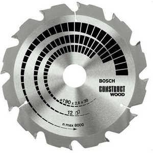 Диск пильный Bosch 190х30мм 12зубьев Construct Wood (2.608.640.633)
