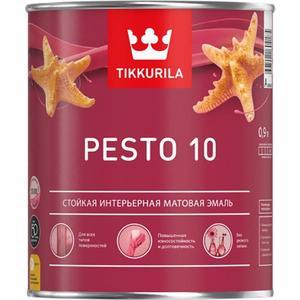 Эмаль алкидная TIKKURILA Pesto 10 ( Песто ) база С 0.9л.