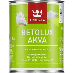 Краска в/д для пола TIKKURILA Betolux Akva ( Бетолюкс Аква ) полуглянц. база А 2.7л.