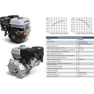 Двигатель бензиновый ZONGSHEN ZS168FB-4 цена