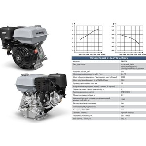 Двигатель бензиновый ZONGSHEN ZS177F цена