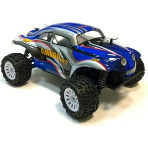Радиоуправляемый монстр ApexHobby Django Beetle Blue Edition 4WD RTR масштаб 1:18 2.4G