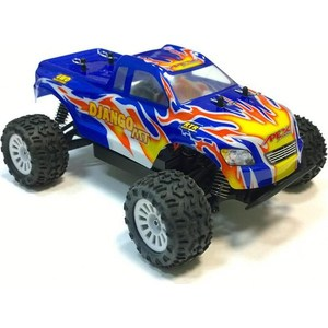 Радиоуправляемый монстр ApexHobby Django MT Blue Orange Edition 4WD RTR масштаб 1:18 2.4G