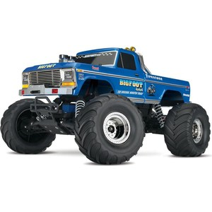 Радиоуправляемый монстр TRAXXAS BIGFOOT No. 1 TQ Fast Charger 2WD RTR масштаб 1:10 2.4G traxxas e revo 4wd rtr электро трагги 1 16 tq 2 4ghz влагозащита new fast charger tra71054 1