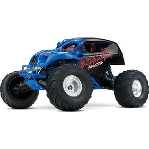 Радиоуправляемый монстр TRAXXAS Skully 2WD RTR масштаб 1:10 2.4G + NEW Fast Charger traxxas e revo 4wd rtr электро трагги 1 16 tq 2 4ghz влагозащита new fast charger tra71054 1