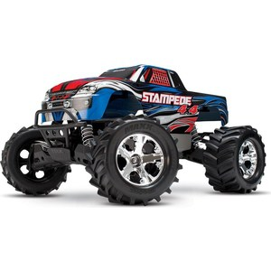 Радиоуправляемый монстр TRAXXAS Stampede (NEW Fast Charger) 4WD RTR масштаб 1:10 2.4G 1 5 degree toe aluminum rear stub axle carriers for the traxxas stampede 4x4 slash 4x4 nitro rustler or nitro stampede
