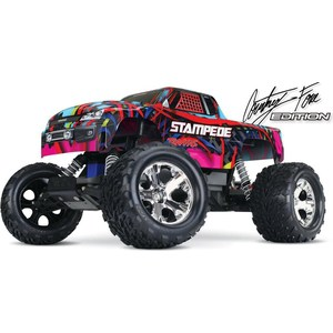 Радиоуправляемый монстр TRAXXAS Stampede (TQ) 2WD RTR масштаб 1:10 2.4G traxxas e revo 4wd rtr электро трагги 1 16 tq 2 4ghz влагозащита new fast charger tra71054 1