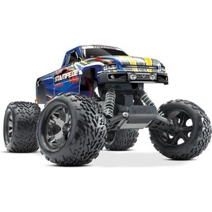 Радиоуправляемый монстр TRAXXAS Stampede VXL 2WD RTR масштаб 1:10 2.4G - 3 1 5 degree toe aluminum rear stub axle carriers for the traxxas stampede 4x4 slash 4x4 nitro rustler or nitro stampede