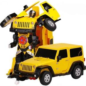 Радиоуправляемый робот трансформер MZ Model Jeep Rubicon Yellow 1:14
