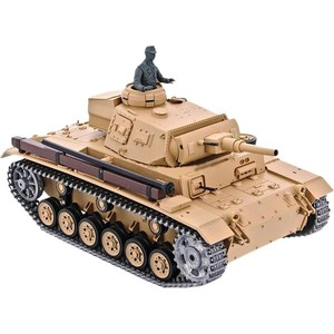 Радиоуправляемый танк Heng Long Tauch Panzer III Ausf H Pro масштаб 1:16 40Mhz realts dragon model kit 6394 pz kpfw iii ausf j 1 35 scale