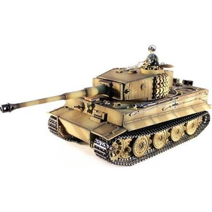 2 4ghz henglong gray german tiger i 1 16 scale rtr rc tank metal tracks wheels 3818 360 degrees rotation turret Радиоуправляемый танк Taigen German Tiger 1 Metal Edition Late Version масштаб 1:16 2.4G