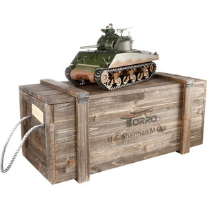 Радиоуправляемый танк Torro Sherman M4A3 ИК RTR масштаб 1:16 2.4G фото