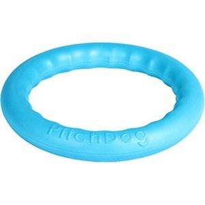 Игрушка PitchDog 30 Любимая игрушка игровое кольцо для аппортировки голубое для собак 28см