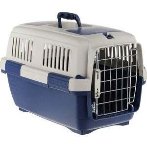Купить Переноска Marchioro TORTUGA 3 сине-бежевая 64x43x43h см для животных