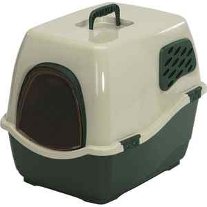 Био-туалет Marchioro BILL 1F зелено-бежевый 50x40x42h см для кошек туалет ferplast cosmic уличный закрытый с угольным фильтром для кошек 73 5 43 5 41см