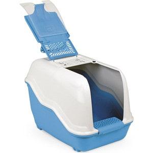 Био-туалет MPS NETTA с совком голубой 54x39x40h см для кошек недорого