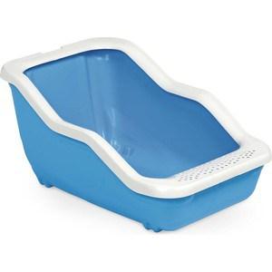 Туалет MPS NETTA Open с рамкой голубой 54x39x29h см для кошек лоток для животных киспис антибактериальный экопластик с решеткой туалет