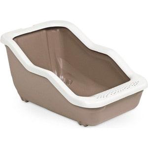Туалет MPS NETTA Open с рамкой коричневый 54x39x29h см для кошек недорого