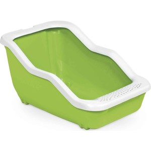 Туалет MPS NETTA Open с рамкой салатовый 54x39x29h см для кошек mps mps био туалет netta 54х39х40h см с совком коричневого цвета
